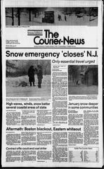 "The ""Snow Edition"" front page of The Courier-News on Tuesday, Feb. 7, 1978."