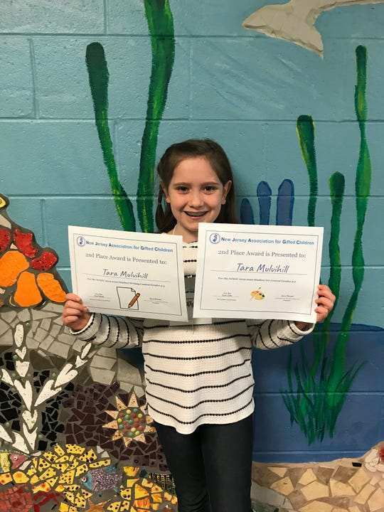 Tara Mulvihill, second place winner in New Jersey Association Gifted Children's art and writing contest