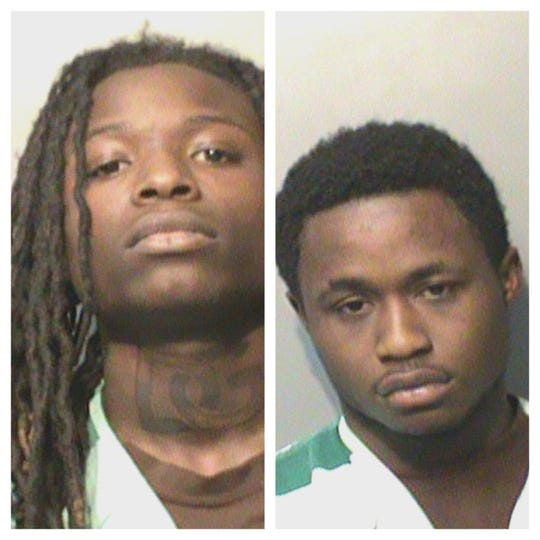 Daishawn Q. Gills (left), 20, and Emmanuel Totaye Jr., 19, were both charged with three counts of first degree murder in the Jan. 30 shooting deaths of DeVonte Swanks, Malachi Swanks and Thayne Wright.