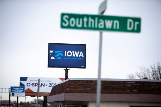 The Iowa Democratic Party headquarters on Tuesday, Feb. 4, 2020, in Des Moines. Party officials continue to work on announcing the results of last nights first in the nation Caucus.