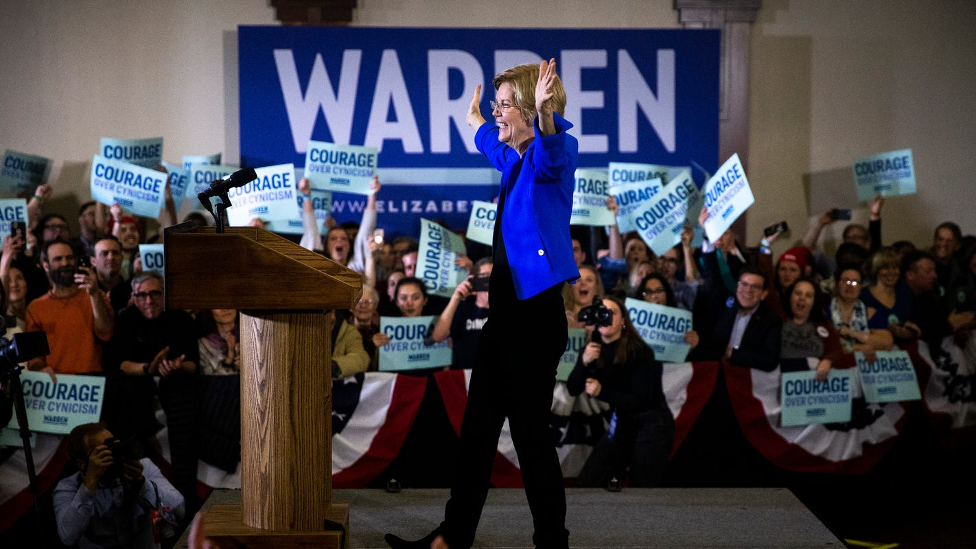 Elizabeth Warren says she's part of 'tight, three-way race,' criticizes release of partial results in Iowa