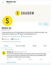 Shadow, Inc. posted this message Tuesday, Feb. 4, 2020 in response to its smartphone app that malfunctioned and delayed the Iowa caucus result reporting.