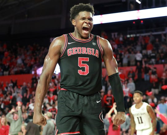 Anthony Edwards, Georgia, 6-5, 225 freshman guard. 2019-20 stats: 19.1 points, 5.2 rebounds, 2.8 assists, 29.4% 3PG. Scouting report: Powerful scorer with elite athleticism, streaky shooter.