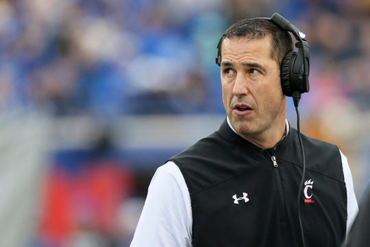 Cincinnati coach Luke Fickell during a game vs. Memphis at Liberty Bowl Memorial Stadium, Memphis, Tenn. on Nov. 29, 2019.