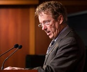Sen. Rand Paul, R-Ky., speaks during a news conference on Capitol Hill in Washington, Thursday, Jan. 30, 2020.