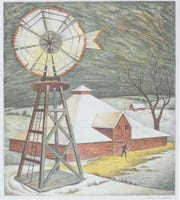 """Jenne Magafan's """"Nebraska Landscape"""" is on display at the Rockwell Museum in Corning as part of the """"Prints By Women: Selected European and American Works from the Georgia Museum of Art"""" exhibit."""