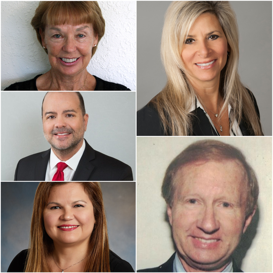 The News-Press citizen editorial board members for 2020 (clockwise from top left): Dottie Pacharis, Alisa Knittel, Gary Shepard, Janeth Castrejon and Luis Insignares.