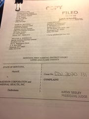 Here is a copy of the lawsuit Attorney General Tim Fox filed Monday against two opioid distributors