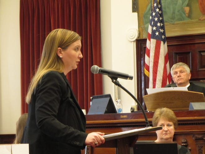 Criminal Deputy County Attorney Jennifer Quick gives her closing arguments during the trial of Willard Dean McCaulou Tuesday, Feb. 4, 2020.