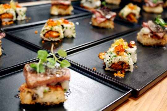 Salmon skin rolls and shrimp rice cakes are among dishes chefs are testing for Modita, a new Asian-inspired restaurant opening in October 2020 at Bottleworks District on Mass Ave., Indianapolis.