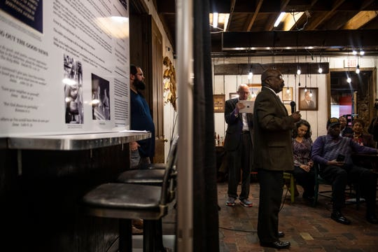 An exhibit commemorating the 1960 Woolworth sit-ins opened at Old Country Store in Jackson, Tenn., Tuesday, Feb. 4, 2020.