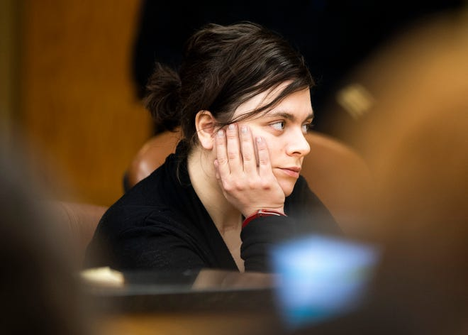 Lindsee Leonardo during her preliminary hearing in Knox County Felony Court on Tuesday, February 4, 2020.