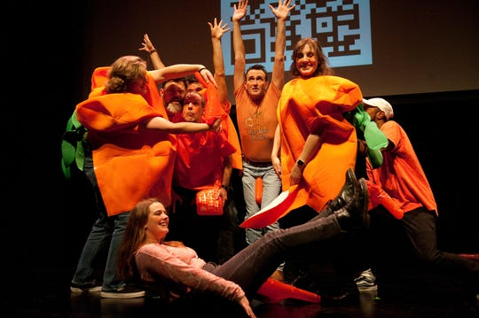 Improv Rumble, a comedy event where color-coded teams battle for the audiences votes and a broken banana trophy, is at Acadiana Center for the Arts, Feb. 8th.