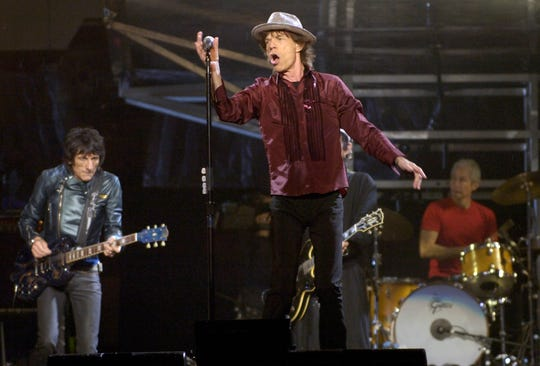 Ron Wood, Mick Jagger, Keith Richards and Charlie Watts, The Rolling Stones, perform at Churchill Downs.Sept. 29, 2006