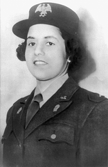 Anna Mac Clarke (1919 - 1944) - A native of Lawrenceburg and graduate of Kentucky State University, Clarke was the first black woman in Kentucky to enlist in the military during WWII. She was a member of the Women's Army Auxiliary Corp.