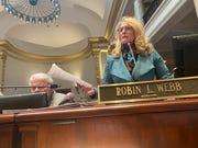 State Sen. Robin Webb, D-Grayson, spoke against Senate Bill 1 on Tuesday.