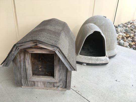 Dog houses.