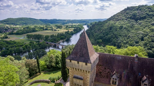 Cassandra Owens, a 2000 graduate of Lexington High School, and her fiance Kirk Krappe, who is English, bought a chateau in France which provides stunning views from the high cliff edges and allows for strolls up through the forest to a dilapidated walls of an ancient Roman church.