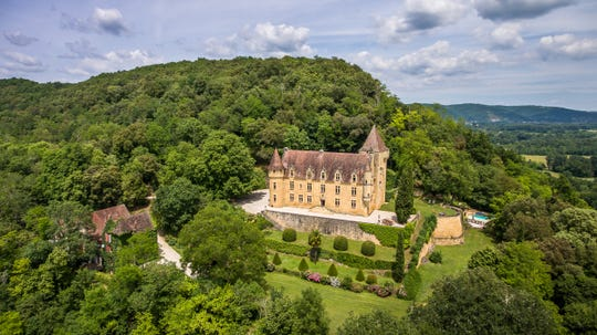 Lexington native Cassandra Owens and her fiance Kirk Krappe own this luxurious hilltop chateau in France which overlooks the Dordogne's Perigord Noir. The couple rent the chateau by the week.