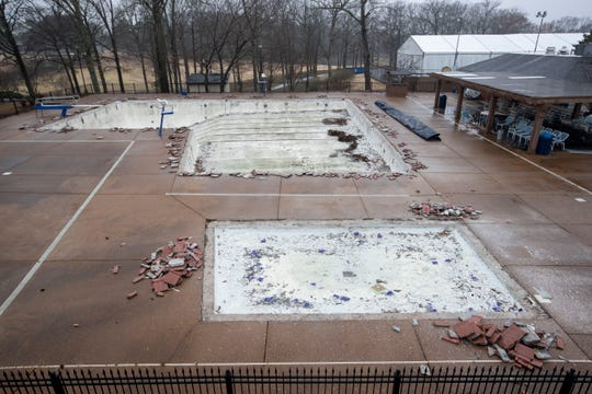 Renovations have begun on the pool at Colonial Country Club in Cordova. Photographed Tuesday, Feb. 4, 2020.
