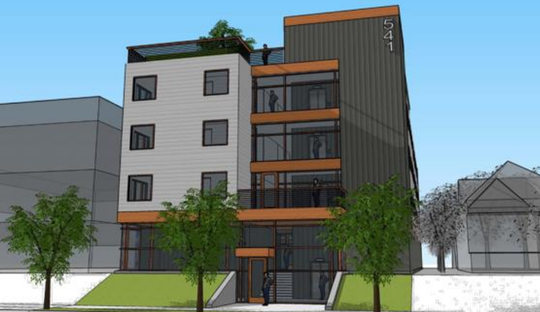 A four-story, 27-unit apartment building is planned for a site near Marquette University.