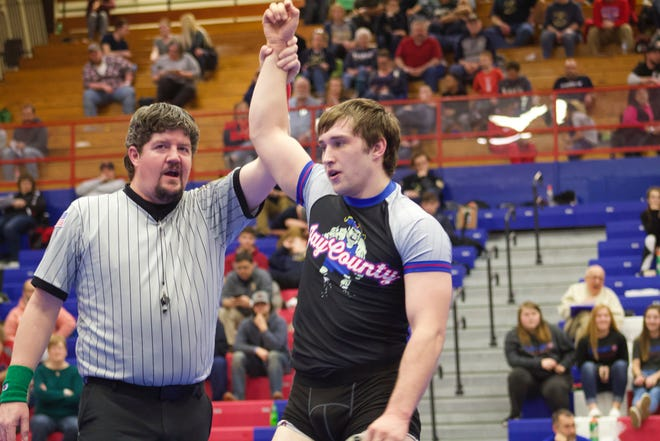 Jay County wrestler Mason Winner is a senior for the Patriots. He is 35-0 with a sectional title this season.