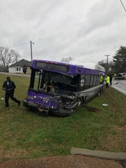 Nashville police say the driver of an SUV died in a head-on collision involving a WeGo Nashville public transit bus in the 1200 block of Old Hickory Boulevard near Madison Tuesday, Feb. 4, 2020.
