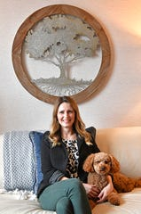 Amy Alexander, CEO of the Refuge Center for Counseling, is also a therapist and uses Stellan, a therapy dog, in sessions. The Refuge Center is the largest provider of therapy to Williamson County residents.