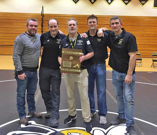 The 2020 Fairview High Wrestling coaching staff.  Jan. 24, 2020.