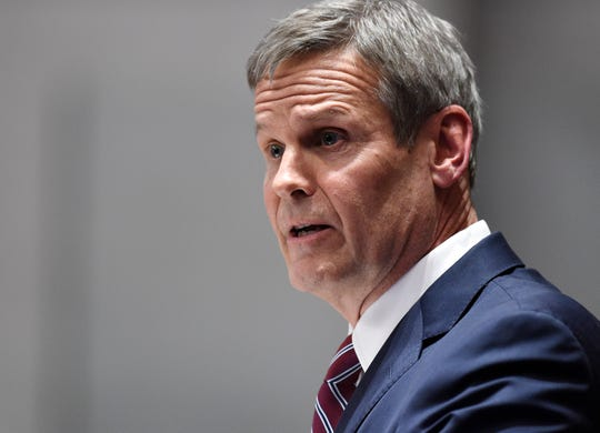 Gov. Bill Lee delivers the State of the State address Feb. 3, 2020, at the state Capitol in Nashville.