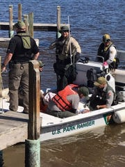 Mark Miele, 67 of Williamsburg, Virginia, is rescued on Feb. 3, 2020, after he disappeared while on a solo kayaking trip in the Everglades National Park.