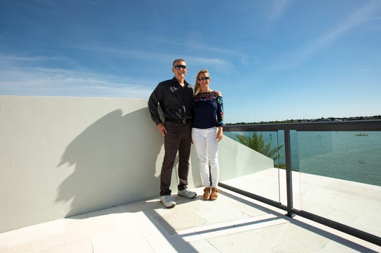 Jim Prange, right, and daughter Nikki Prange-Carroll with Sotheby's International Realty pose for a portrait at a home recently built, Tuesday, Feb. 4, 2020, on Marco Island.