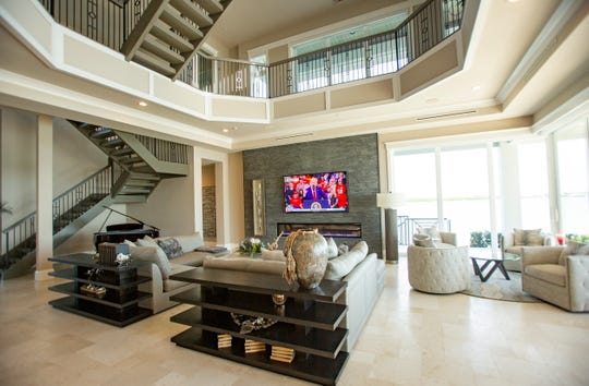 A brand new home recently built on Marco Island is pictured on Tuesday, Feb. 4, 2020. The home fetched $10.5 million, making it the highest priced sale in Marco history.