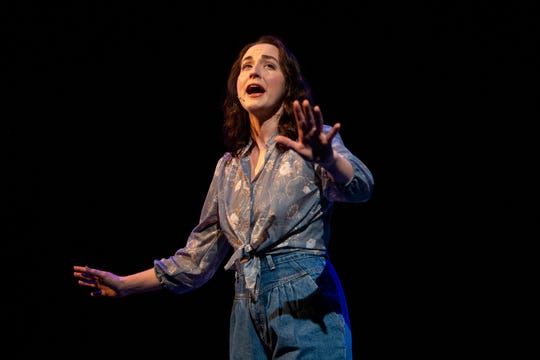 Whitney Winfield plays Nancy Kerrigan in 'Tonya and Nancy: The Rock Opera', Monday, Feb. 3, 2020, at the G&L Theatre at the Community School of Naples.