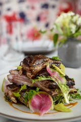 The lamb ribs with chermoula, labneh and za'atar at Allegory a restaurant in the MC Hotel in Montclair on Friday January 31, 2020.