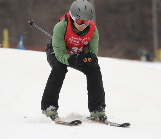 Benjamin Do of Mendham competes in the skiing competition at the Special Olympics 2020 Winter Games held at Mountain Creek in Vernon on February 4, 2020.