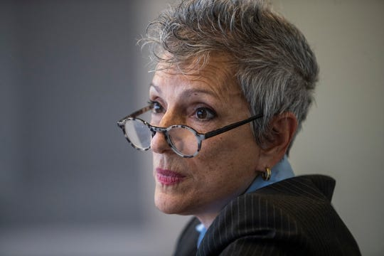 28th State Senate district candidate Joy Silver speaks to The Desert Sun Editorial Board on February 4, 2020.