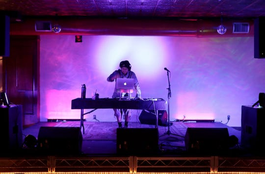 DJ Bandai, aka Mitchell Pagan, deejays at Alibi Palm Springs, a new music venue option to downtown Palm Springs, Calif., on Saturday, February 1, 2020. Some Saturdays they host a food/drinks/charity event called Soundbites.