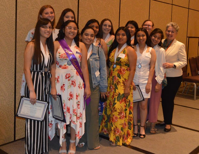 Ophelia 2019 graduates from Rancho Mirage and Palm Springs High Schools with Superintendent of Schools Dr. Sandra Lyon.