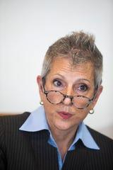 Joy Silver speaks to The Desert Sun Editorial Board on February 4, 2020.