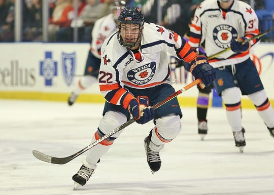 Donovan Ott is currently on a hot streak with the Utica College ice hockey team.