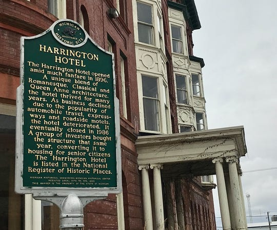 Hotel Harrington at 1026 Military St. in downtown Port Huron on Feb. 4, 2020.