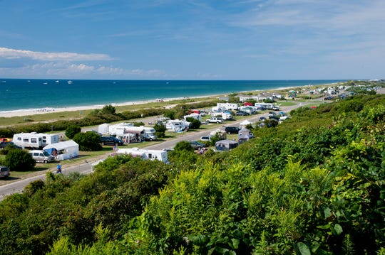 Hither Hills Campground is on the beach near Montauk, New York.