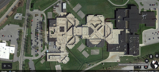 A satellite view of York County Prison.