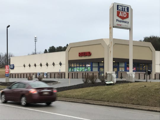 "The Rite Aid Pharmacy, located at 2067 Hanover Road (Route 116) in Jackson Township, where Northern York County Regional Police say a robbery occurred on Monday night. The robbery suspects used a ""pepper-spray-like substance"" on the victims, police said."