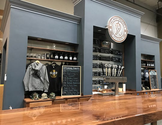 The bar inside Fall River Brewing's headquarters on Eastside Road in Redding. The company was named one of the top 150 most popular breweries in the U.S. by House Method.