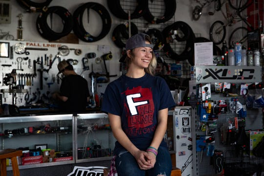 Jaiven Franz, 18, poses for a portrait at Fall Line Sports in Silverton on January 30, 2020.