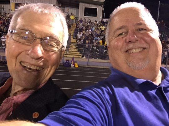 The late Bob Griffin at a local football game a couple of years ago with Times reporter Jimmy Watson