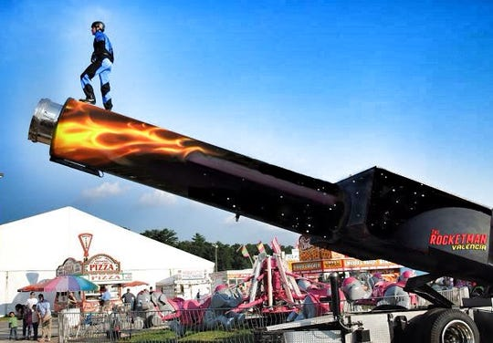 The human cannonball returns to the circus this year.