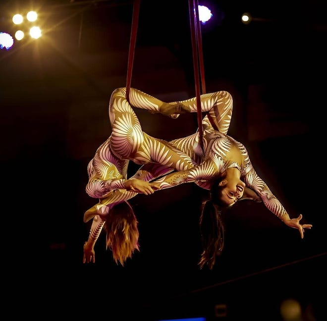 Aerialists put on a dazzling display at the Carden Circus.